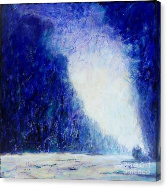 Blue Landscape - Abstract Canvas Print