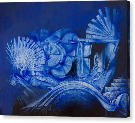 Blue Landscape Canvas Print by Fernando Alvarez