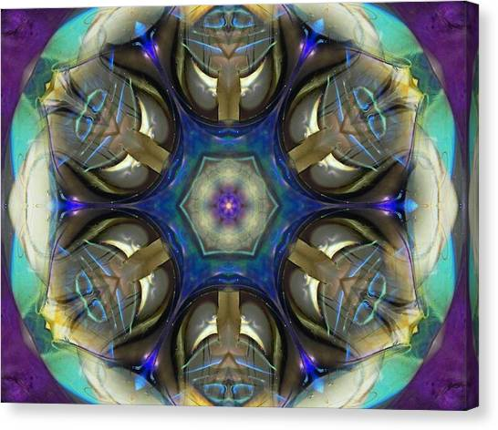 Blue Light Angel Mandala Canvas Print