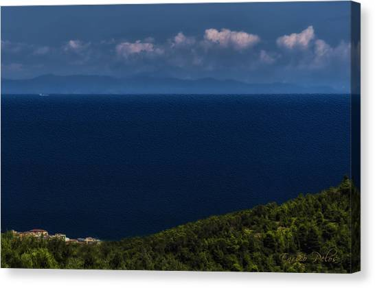 Blue Liguria Canvas Print