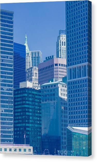 Blue Manhattan Canvas Print
