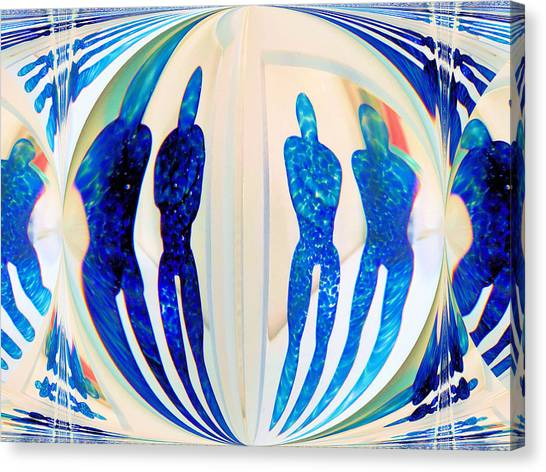 Blue Men Abstract Canvas Print