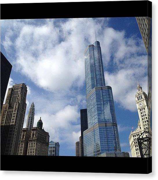 Sears Tower Canvas Print - Blue by Mike Maher