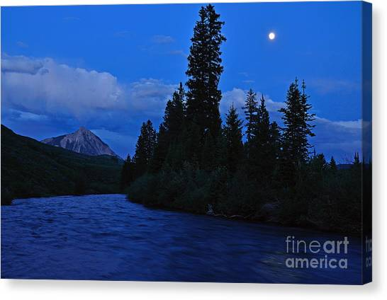 Blue Missing You Canvas Print