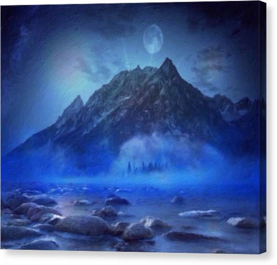 Blue Mist Rising Canvas Print