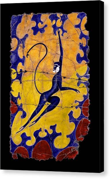 Bogdanoff Canvas Print - Blue Monkey No. 13 by Steve Bogdanoff