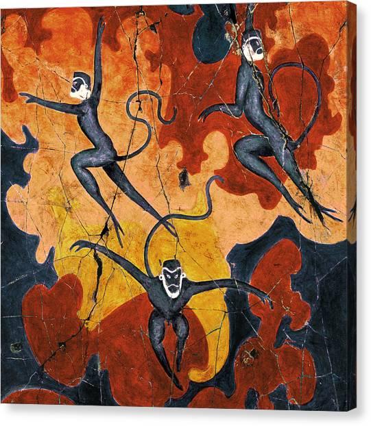 Bogdanoff Canvas Print - Blue Monkeys No. 8 - Study No. 1 by Steve Bogdanoff