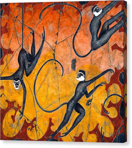 Bogdanoff Canvas Print - Blue Monkeys No. 9 - Study No. 4 by Steve Bogdanoff