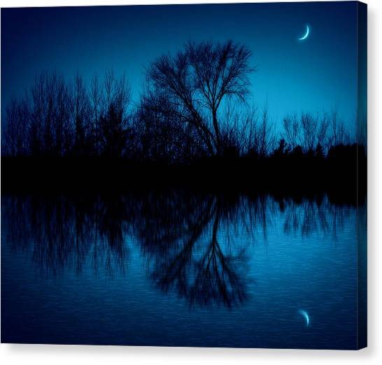 Minnesota Canvas Print - Blue Moon by Billy Torma