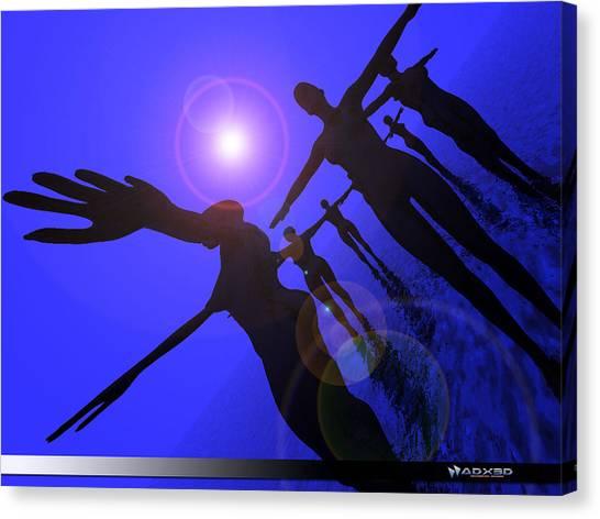 Blue Moon Dancers Canvas Print
