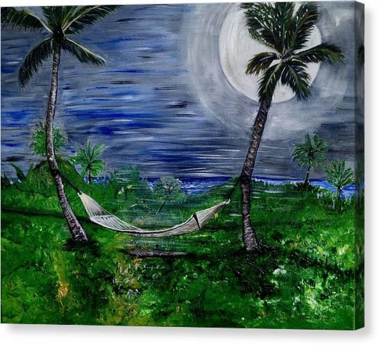Blue Moon Hammock Canvas Print
