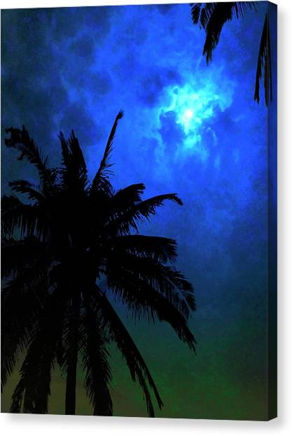 Blue Moon Canvas Print by Mark Garlick/science Photo Library