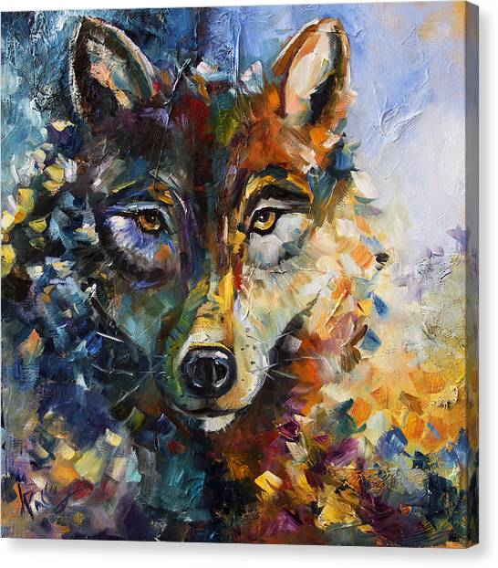 Blue Moon Wolf Canvas Print