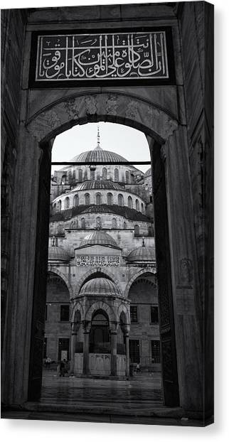 Byzantine Canvas Print - Blue Mosque Court Entrance by Stephen Stookey
