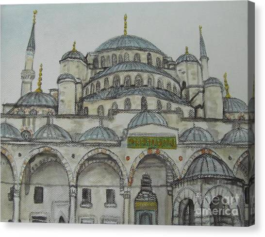 Blue Mosque Istanbul Turkey Canvas Print