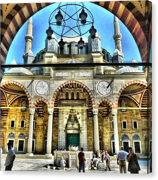 Islamic Art Canvas Print - Blue Mosque by Merissa S