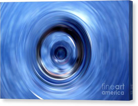 Glass Art Canvas Print - Blue Motion by Krissy Katsimbras