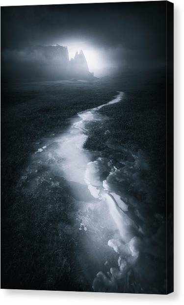Dolomites Canvas Print - Blue Mountain II by Luca Rebustini