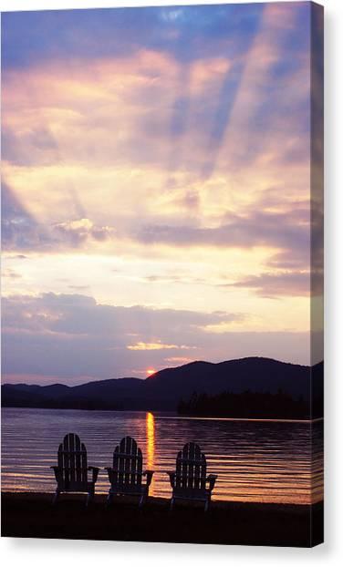 Blue Mountain Lake Ny Canvas Print
