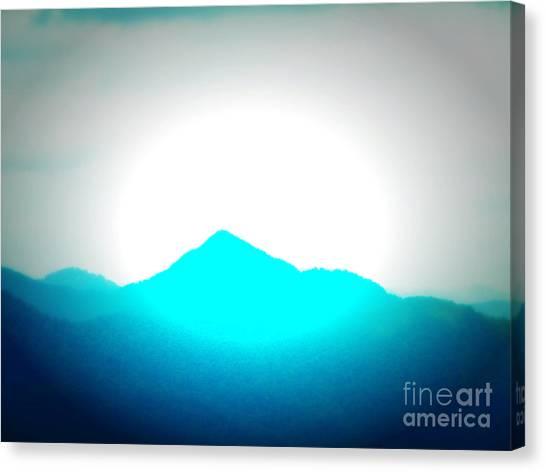 Blue Mountain Canvas Print by Lorraine Heath