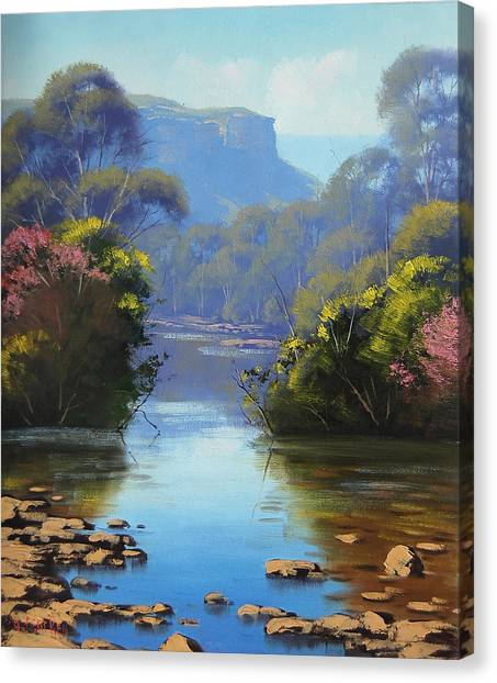 Brook Canvas Print - Blue Mountains River by Graham Gercken