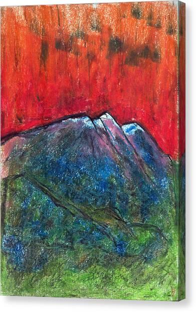 Blue Mountains Canvas Print by Yuri Lushnichenko