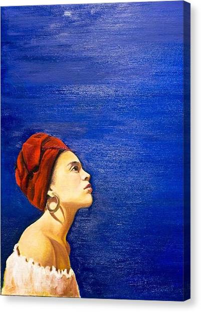 Blue Canvas Print by Olinela