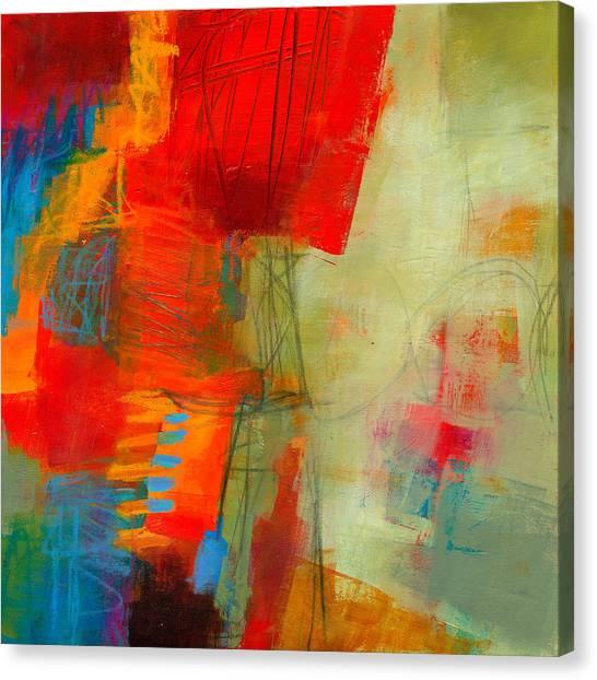 Crayons Canvas Print - Blue Orange 1 by Jane Davies