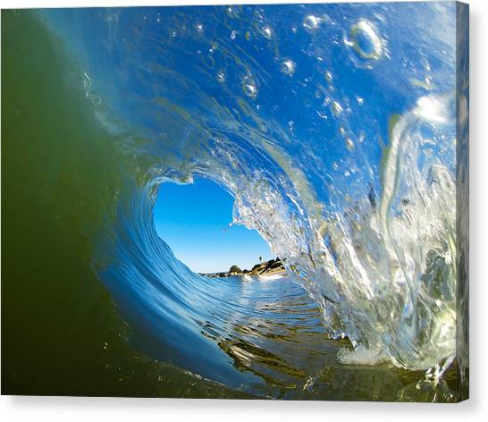 Bodyboard Canvas Print - Blue Perfection by David Alexander