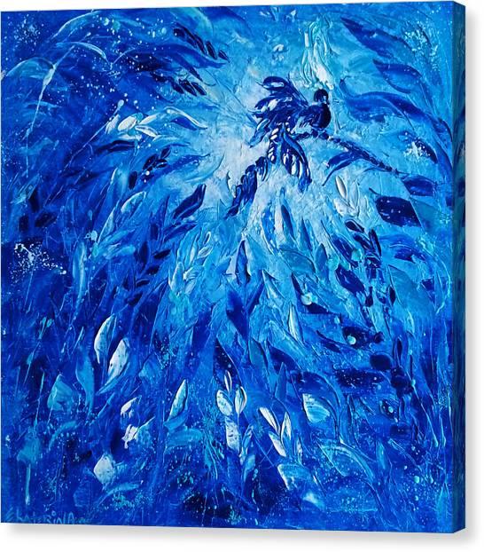 Blue Phoenix Canvas Print