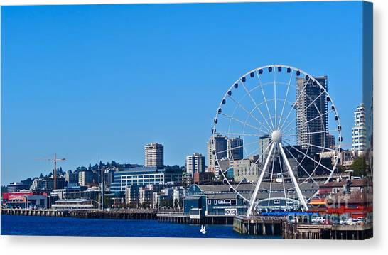 Blue Pier  Canvas Print