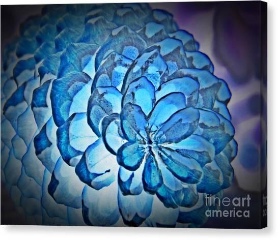 Blue Pine Cone 2 Canvas Print