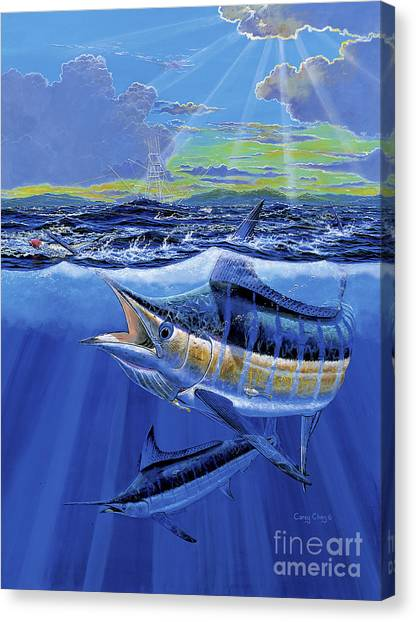 Yamaha Canvas Print - Blue Pitcher Off00115 by Carey Chen