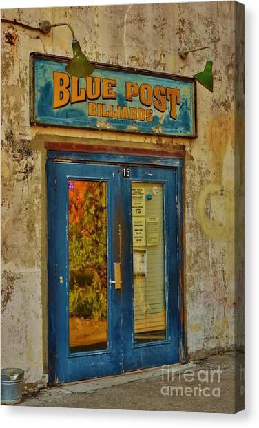 Blue Post Billiards Canvas Print