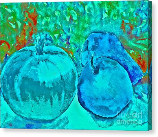 Blue Pumpkin Canvas Print