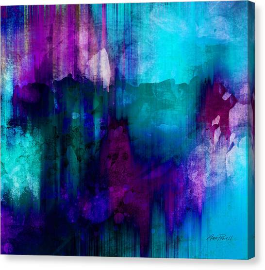 Blue Rain  Abstract Art   Canvas Print