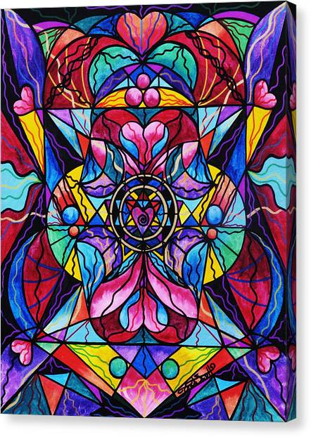 Sacred Canvas Print - Blue Ray Healing by Teal Eye Print Store