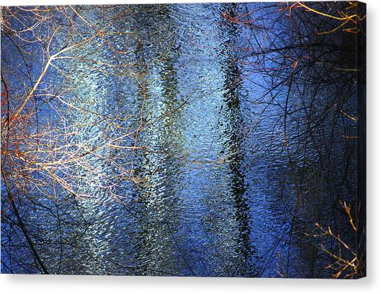 Blue Reflections Of The Patapsco River Canvas Print