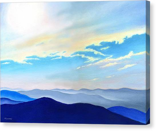 Blue Ridge Blue Above Canvas Print