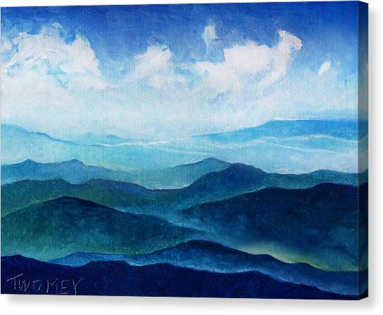 Blue Ridge Blue Skyline Sheep Cloud Canvas Print