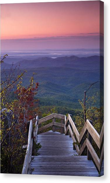 Blue Ridge Parkway Canvas Print - Blue Ridge Morning by Andrew Soundarajan