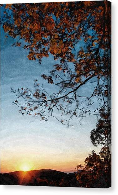Blue Ridge Mountail Fall Canvas Print