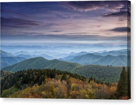 Blue Ridge Parkway Canvas Print - Blue Ridge Mountain Dreams by Andrew Soundarajan