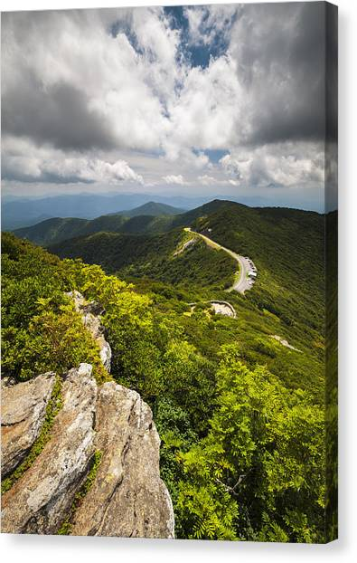 Blue Ridge Parkway Canvas Print - Blue Ridge Parkway Craggy Gardens Asheville Nc - Craggy Pinnacle by Dave Allen