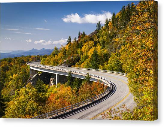 Blue Ridge Parkway Linn Cove Viaduct - North Carolina Canvas Print