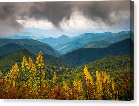 Blue Ridge Parkway Canvas Print - Blue Ridge Parkway Nc Photography North Carolina Scenic Landscape by Dave Allen