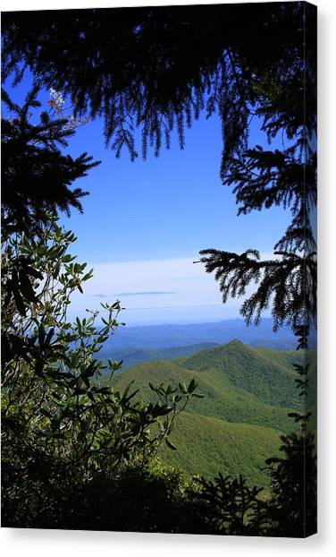 Blue Ridge Parkway Norh Carolina Canvas Print