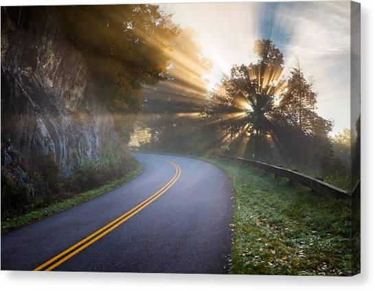 Blue Ridge Parkway Canvas Print - Blue Ridge Parkway North Carolina by Dave Allen