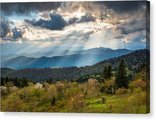 Blue Ridge Parkway Canvas Print - Blue Ridge Parkway North Carolina Mountains Gods Country by Dave Allen