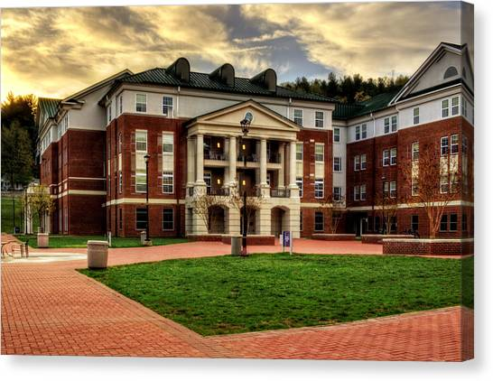 Blue Ridge Residence Hall - Wcu Canvas Print
